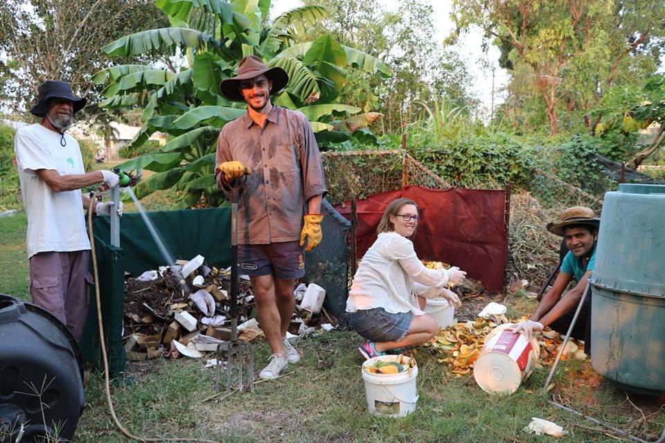 Composting at Nightcliff Seabreeze Festival