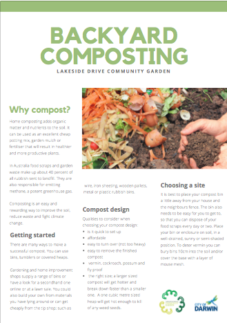 Backyard Composting – handout to get started
